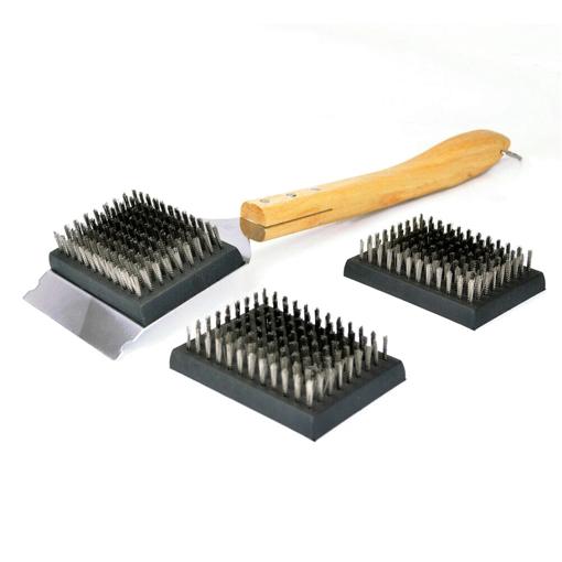 Imagen de Set cepillos para parrilla Jim Beam